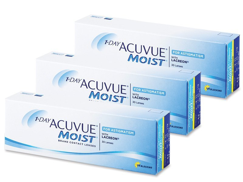 1 Day Acuvue Moist for Astigmatism (90lentilles)