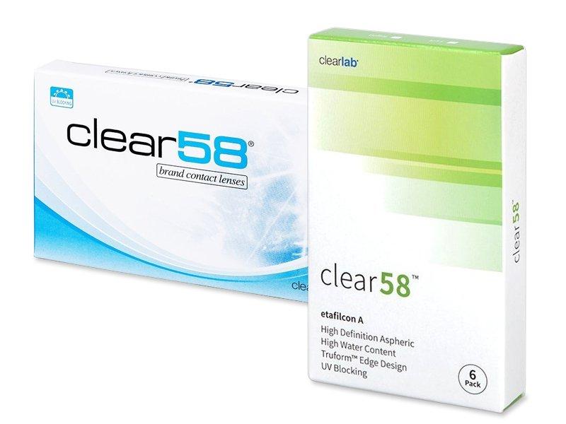 Clear 58 (6 lentilles) – 20.49 €   Alensa 76c6886e6138