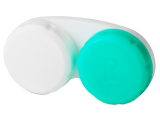 alensa.fr - Lentilles de Contact pas chères en ligne - Étui à lentilles - Vert & Blanc