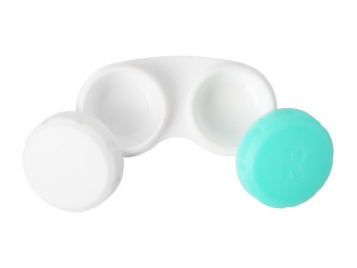 Étui à lentilles - Vert & Blanc