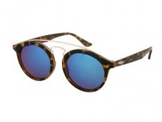 Lunettes de soleil Enfant Panto Havana Miroir Bleu
