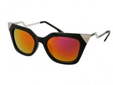 Lunettes de soleil Alensa Cat Eye Miroir Noir Brillant
