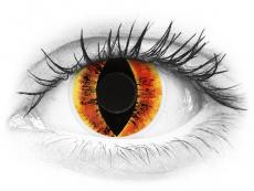 Lentilles de contact Orange Saurons Eye - ColourVue Crazy (2 lentilles)