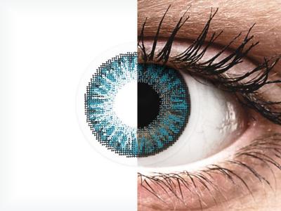 Lentilles de contact Bleu - correctrices - TopVue Color (10lentilles journalières)
