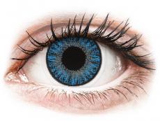 Lentilles de contact Bleu Sapphire Blue - correctrices - TopVue Color (10lentilles journalières)