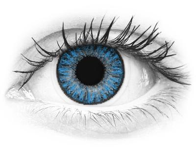 Lentilles de contact Bleu Sapphire Blue - TopVue Color (10lentilles journalières)