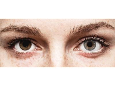 Lentilles de contact Gris - correctrices - TopVue Color (2lentilles mensuelles)