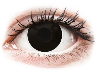 ColourVUE Crazy Lens - Blackout - journalières non correctrices (2 lentilles)