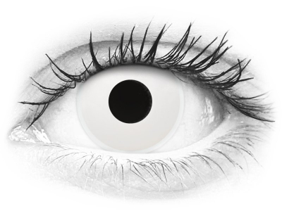 ColourVUE Crazy Lens - Whiteout - journalières non correctrices (2 lentilles)