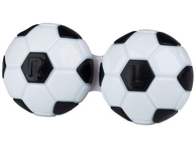 Étui à lentilles Football - Noir