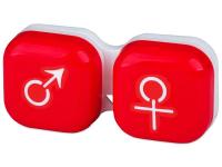 alensa.fr - Lentilles de Contact pas chères en ligne - Étui à lentilles Homme & Femme - Rouge