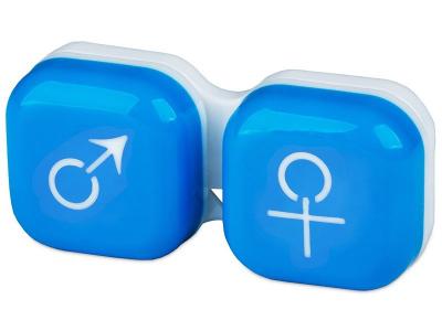Étui à lentilles Homme & Femme - Bleu