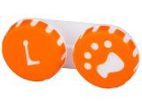 alensa.fr - Lentilles de Contact pas chères en ligne - Étui à lentilles Patte - Orange