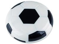 Étui à lentilles avec miroir Football - Noir