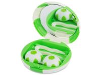 alensa.fr - Lentilles de Contact pas chères en ligne - Étui à lentilles avec miroir Football - Vert