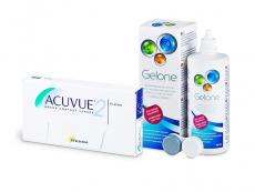 Acuvue 2 (6 lentilles) + Gelone 360 ml