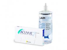 Acuvue 2 (6 lentilles) + Laim-Care 400 ml