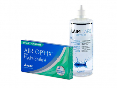 Air Optix plus HydraGlyde for Astigmatism (3 lentilles) + Laim-Care 400 ml