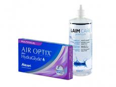 Air Optix plus HydraGlyde Multifocal (6 lentilles) + Laim-Care 400 ml