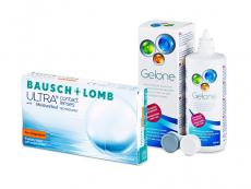 Bausch + Lomb ULTRA for Astigmatism (6 lentilles) + Gelone 360 ml