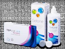 TopVue Air Multifocal (3 lentilles) + Solution Gelone 360 ml
