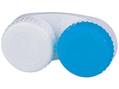 Étui à lentilles Bleu & Blanc L+R