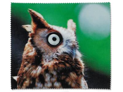 Chiffon nettoyant pour lunettes - Hibou