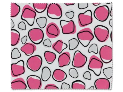 Chiffon nettoyant pour lunettes - rose et blanc