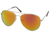alensa.fr - Lentilles de Contact pas chères en ligne - Lunettes de soleil Silver Aviator - Rose/Orange