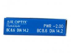 Air Optix plus HydraGlyde (6 lentilles)