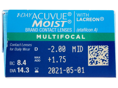 1 Day Acuvue Moist Multifocal (30 lentilles)