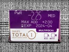 Dailies TOTAL1 Multifocal (30 lentilles)