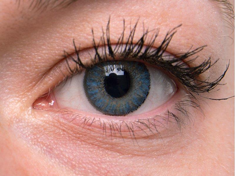 Blue on grey eye