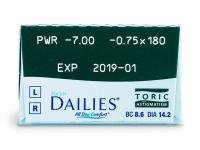 Focus Dailies Toric (30lentilles)
