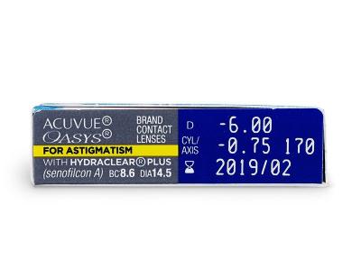 Acuvue Oasys for Astigmatism (6lentilles)