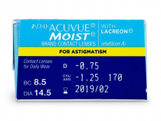 1 Day Acuvue Moist for Astigmatism (30lentilles)